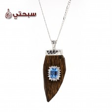 Silver 925 Casual Pendant Necklace with Oud